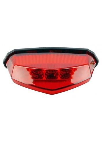 LED  Feu Arriere Led Rouge :10 leds : 142 x 39mm : Profondeur 82 mm homologue