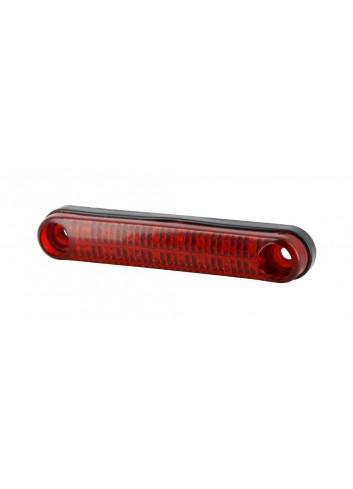 Universel  Barette de Feu Arriere Souple 16 LED E4 - 12V 6/1W - Fixation 85mm Longueur: 105mm - Epaisseur: 13mm
