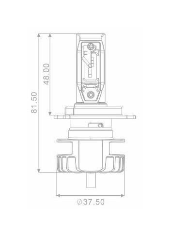 Divers Eclairages Sifam Ampoule H4 LED + Ballast Code et Code/Phare 16W - 2200 Lumens