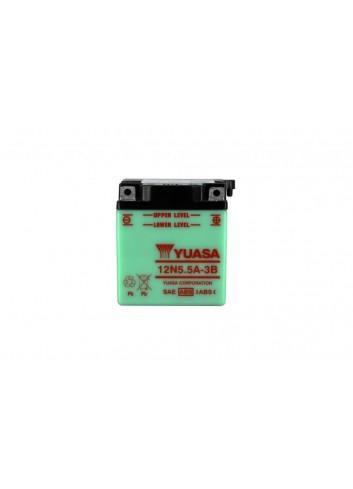 Batt Avec Entretien Yuasa Batterie 12N5-5A-3B Conventionnelle Avec Entretien - Livree Sans Acide