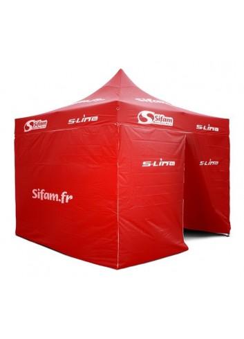 Barnum  Barnum Aluminium 3x3m Rouge Structure Aluminium - 12kg Toile polyester : 250gr/m2