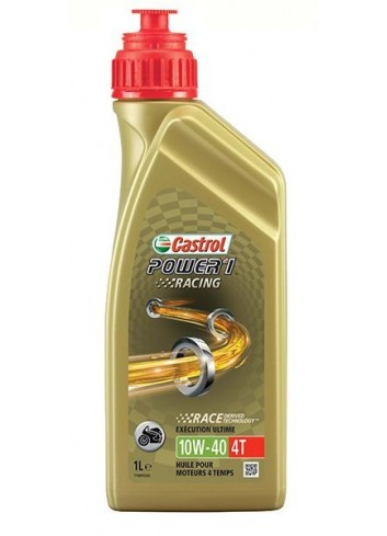 Full Synthétique 4T Castrol Huile 4T Racing 10W40 POWER1 1L - Full Synthetique