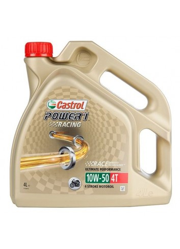 Huile Full Synthétique 4T Castrol Huile Racing 4T 10W50 POWER1 4L - Full Synthetique
