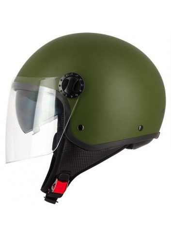 Demi-Jet S-Line Casque Demi-Jet R-FULLY S706 Double Visiere - Green Army - Taille L