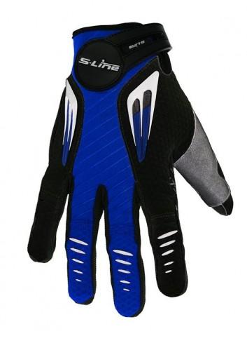 Gant Moto Cross S-Line Gants Motocross Cross Pilot Taille XS Bleu/Noir NON HOMOLOGUE C.E