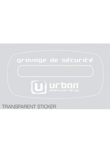 Sticker Gravage  Sticker pour vehicule grave - URBAN