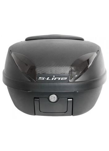 42 Litres S-Line Top Case 42L Noir Mat / Carbone 40x49x31cm Platine, Dosseret et Poignee