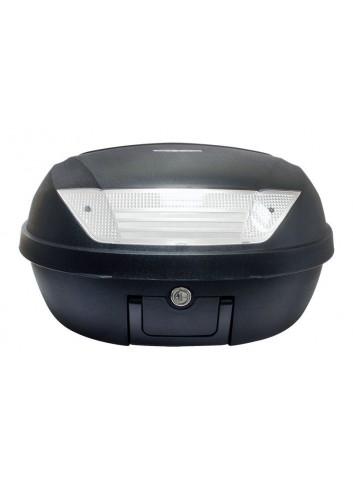 52 Litres S-Line Top Case 52L Noir Mat 58x45x32.5cm 2 Casques Platine et Poignee