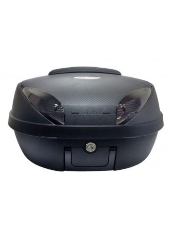 52 Litres S-Line Top Case 52L Noir Mat / Carbone 58x45x32.5cm 2 Casques Platine, Dosseret et Poignee