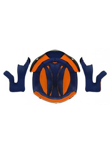 Accessoire Casque Swaps Interieur pour Casque Cross BLUR S818 - Bleu/Orange - Taille M