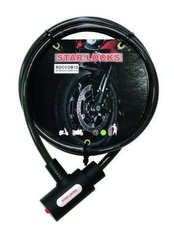 Câble Articulé Star Lock Antivol Cable Tresse O10mm x 1M50 Livre avec 2 Clefs