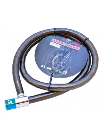 Câble Articulé Star Lock Antivol Cable Articule O18mm x 1M20 Gaine Fumee