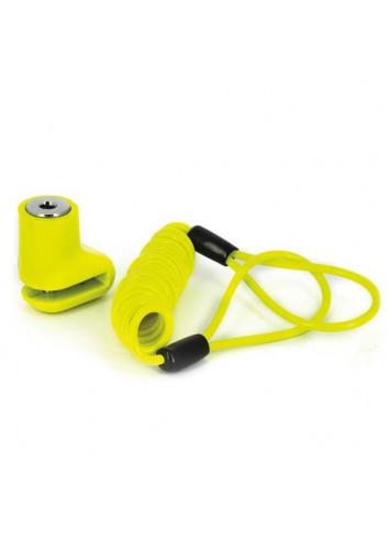Protection Antivol Bloque Disque Star Lock Antivol Bloque Disque Scooter + Cordon Livre avec 2 Clefs
