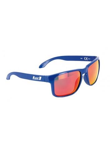 Solaires Luc1 Lunettes De Soleil Bleue LUC1 - Verres Miroir Rouge Cat. 3 - CE 100% UV Protecti