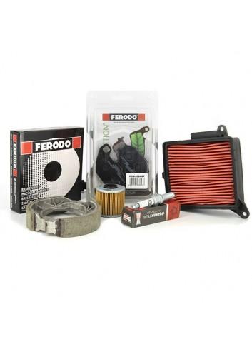 4 Temps Ferodo Kit entretien pour Piaggio Vespa GTS Super Sport - 2010/2013