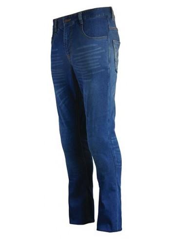 Avec Coques de Protection S-Line Pantalon Jean Regular Homme - Protections CE - Bleu - Taille 38/40 32US