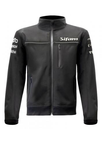 "Standard  Blouson Sportswear Moto DESIGN Broderies ""sponsors"" - Softshell Noir - Taille XL"