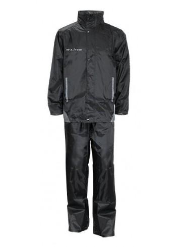 Ensemble Veste Pantalon S-Line Ensemble Pluie Taille XXL Polyester Revetement Pvc Noir Marquages Reflechissants