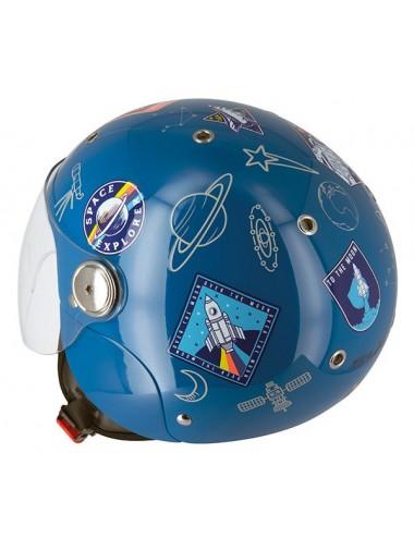S775 S-Line Casque Jet Junior Space S775 Enfant - Bleu - Taille L
